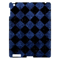 Square2 Black Marble & Blue Stone Apple Ipad 3/4 Hardshell Case by trendistuff