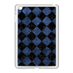 Square2 Black Marble & Blue Stone Apple Ipad Mini Case (white) by trendistuff