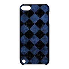 Square2 Black Marble & Blue Stone Apple Ipod Touch 5 Hardshell Case With Stand by trendistuff