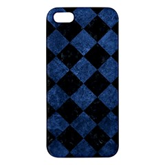 Square2 Black Marble & Blue Stone Apple Iphone 5 Premium Hardshell Case by trendistuff