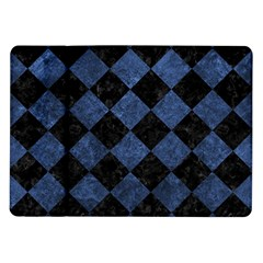 Square2 Black Marble & Blue Stone Samsung Galaxy Tab 10 1  P7500 Flip Case by trendistuff