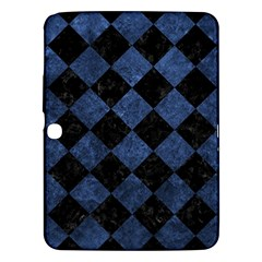 Square2 Black Marble & Blue Stone Samsung Galaxy Tab 3 (10 1 ) P5200 Hardshell Case  by trendistuff