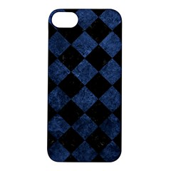 Square2 Black Marble & Blue Stone Apple Iphone 5s/ Se Hardshell Case by trendistuff
