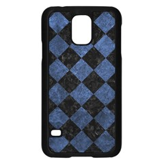 Square2 Black Marble & Blue Stone Samsung Galaxy S5 Case (black) by trendistuff