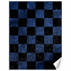 Square1 Black Marble & Blue Stone Canvas 12  X 16  by trendistuff