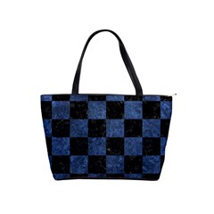 Square1 Black Marble & Blue Stone Classic Shoulder Handbag by trendistuff