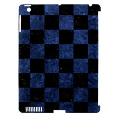 Square1 Black Marble & Blue Stone Apple Ipad 3/4 Hardshell Case (compatible With Smart Cover) by trendistuff