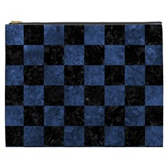 Square1 Black Marble & Blue Stone Cosmetic Bag (xxxl) by trendistuff