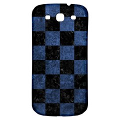 Square1 Black Marble & Blue Stone Samsung Galaxy S3 S Iii Classic Hardshell Back Case by trendistuff