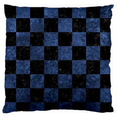 Square1 Black Marble & Blue Stone Large Flano Cushion Case (two Sides) by trendistuff