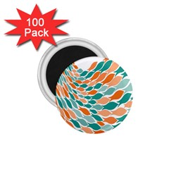 Fish Color Rainbow Orange Blue Animals Sea Beach 1 75  Magnets (100 Pack)  by Alisyart