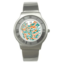 Fish Color Rainbow Orange Blue Animals Sea Beach Stainless Steel Watch by Alisyart