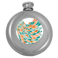 Fish Color Rainbow Orange Blue Animals Sea Beach Round Hip Flask (5 Oz) by Alisyart
