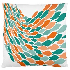 Fish Color Rainbow Orange Blue Animals Sea Beach Large Cushion Case (one Side) by Alisyart