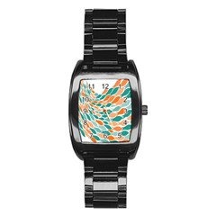 Fish Color Rainbow Orange Blue Animals Sea Beach Stainless Steel Barrel Watch by Alisyart