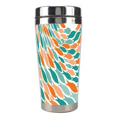 Fish Color Rainbow Orange Blue Animals Sea Beach Stainless Steel Travel Tumblers by Alisyart