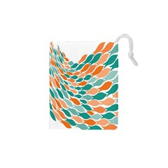 Fish Color Rainbow Orange Blue Animals Sea Beach Drawstring Pouches (xs)  by Alisyart