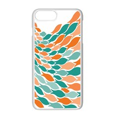 Fish Color Rainbow Orange Blue Animals Sea Beach Apple Iphone 7 Plus White Seamless Case by Alisyart