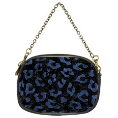 Skin5 Black Marble & Blue Stone (r) Chain Purse (one Side) by trendistuff