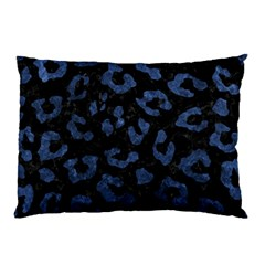 Skin5 Black Marble & Blue Stone (r) Pillow Case (two Sides) by trendistuff