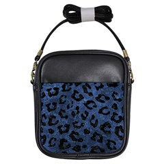 Skin5 Black Marble & Blue Stone Girls Sling Bag by trendistuff