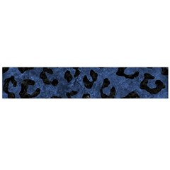 Skin5 Black Marble & Blue Stone Flano Scarf (large) by trendistuff
