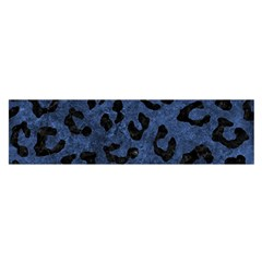 Skin5 Black Marble & Blue Stone Satin Scarf (oblong) by trendistuff
