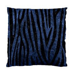 Skin4 Black Marble & Blue Stone Standard Cushion Case (one Side) by trendistuff