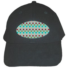 Large Circle Rainbow Dots Color Red Blue Pink Black Cap by Alisyart