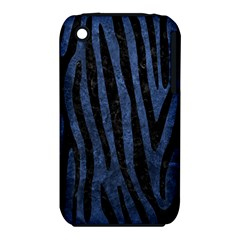 Skin4 Black Marble & Blue Stone Apple Iphone 3g/3gs Hardshell Case (pc+silicone) by trendistuff