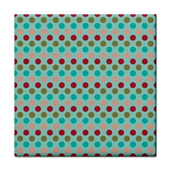 Large Circle Rainbow Dots Color Red Blue Pink Tile Coasters by Alisyart