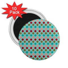 Large Circle Rainbow Dots Color Red Blue Pink 2 25  Magnets (10 Pack)  by Alisyart
