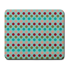 Large Circle Rainbow Dots Color Red Blue Pink Large Mousepads