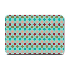 Large Circle Rainbow Dots Color Red Blue Pink Small Doormat  by Alisyart