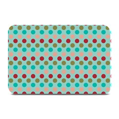 Large Circle Rainbow Dots Color Red Blue Pink Plate Mats by Alisyart