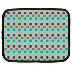 Large Circle Rainbow Dots Color Red Blue Pink Netbook Case (large)