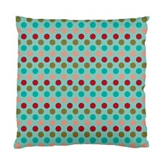 Large Circle Rainbow Dots Color Red Blue Pink Standard Cushion Case (two Sides) by Alisyart