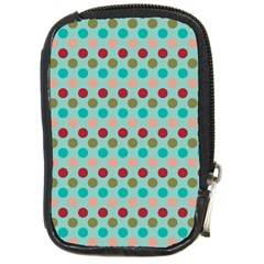 Large Circle Rainbow Dots Color Red Blue Pink Compact Camera Cases by Alisyart