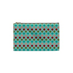 Large Circle Rainbow Dots Color Red Blue Pink Cosmetic Bag (small)  by Alisyart