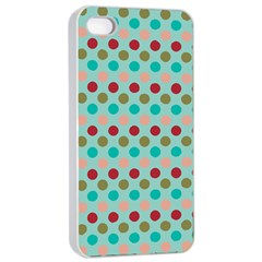 Large Circle Rainbow Dots Color Red Blue Pink Apple Iphone 4/4s Seamless Case (white) by Alisyart