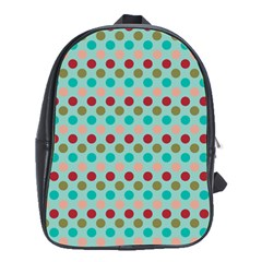 Large Circle Rainbow Dots Color Red Blue Pink School Bags (xl)  by Alisyart