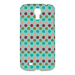 Large Circle Rainbow Dots Color Red Blue Pink Samsung Galaxy S4 I9500/i9505 Hardshell Case by Alisyart