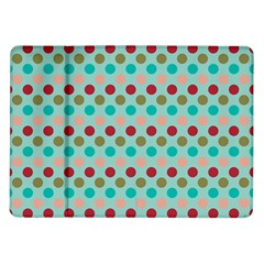 Large Circle Rainbow Dots Color Red Blue Pink Samsung Galaxy Tab 10 1  P7500 Flip Case by Alisyart