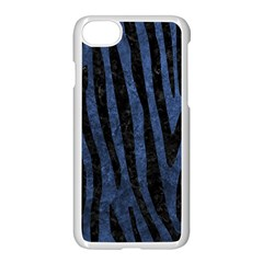 Skin4 Black Marble & Blue Stone Apple Iphone 7 Seamless Case (white) by trendistuff