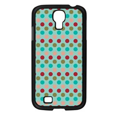 Large Circle Rainbow Dots Color Red Blue Pink Samsung Galaxy S4 I9500/ I9505 Case (black) by Alisyart