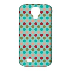 Large Circle Rainbow Dots Color Red Blue Pink Samsung Galaxy S4 Classic Hardshell Case (pc+silicone)