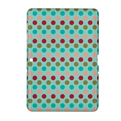 Large Circle Rainbow Dots Color Red Blue Pink Samsung Galaxy Tab 2 (10 1 ) P5100 Hardshell Case