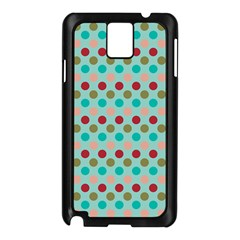 Large Circle Rainbow Dots Color Red Blue Pink Samsung Galaxy Note 3 N9005 Case (black) by Alisyart