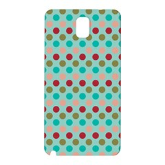 Large Circle Rainbow Dots Color Red Blue Pink Samsung Galaxy Note 3 N9005 Hardshell Back Case by Alisyart