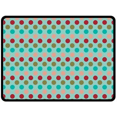 Large Circle Rainbow Dots Color Red Blue Pink Double Sided Fleece Blanket (large)  by Alisyart
